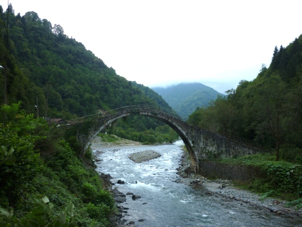 Humpback bridge over the river Fırtına